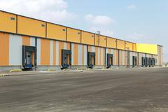 Stock Photo of loading dock warehouse