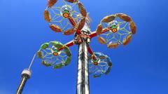 Amusement parks. Stock Footage