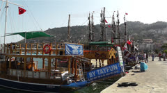 Alanya Turkey 85 port - stock footage