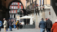 Spain, Madrid - Plaza Mayor - City 24 Stock Footage