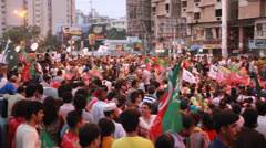 Protest against Rigged Elections in Karachi, Pakistan Stock Footage