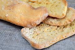 dried bread - stock photo