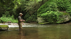 Trout Fishing 05 Stock Footage