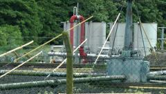 Small Waste Water Treatment Facility Stock Footage