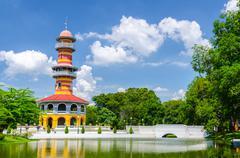 Withun Thasasa Tower (Ho), Ayuthaya, Thailand Stock Photos