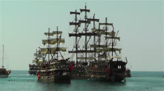 Stock Video Footage of Alanya Turkey 103 ships