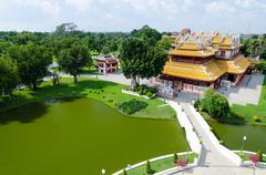 "Phra Thinang Wehart Chamrun (Royal Residence ""Heavenly Light"") - stock photo"