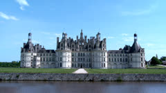 Chateau de Chambord - Chambord France - stock footage