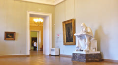 Interior of Russian Museum in Saint Petersburg, Russia Stock Footage