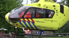 Arriving air ambulance Stock Footage