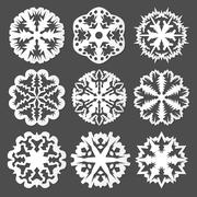 Stock Illustration of paper snowflakes