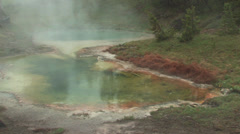 Hot spring in yellowstone national park, wyoming, usa Stock Footage