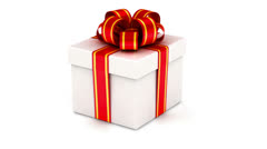 Rotated white gift box Stock Footage