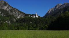 Neuschwanstein castle Stock Footage