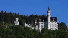 Neuschwanstein castle Stock Footage