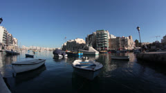 Maltese impressions - St. Julian harbor _1 Stock Footage