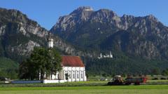 St coloman pilgrimage church neuschwanstein castle Stock Footage