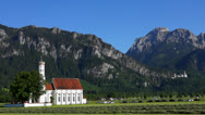 Stock Video Footage of st coloman pilgrimage church neuschwanstein castle