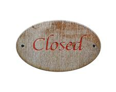 wooden sign closed. - stock illustration