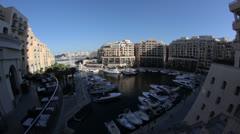 Maltese impressions - Hilton hotel (fisheye) _1 Stock Footage