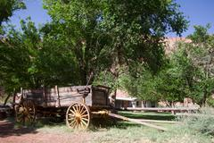 Lonely dell ranch national historic district at lee's ferry in arizona Stock Photos