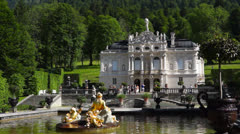 Linderhof castle, bavaria, germany Stock Footage