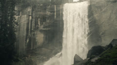 Vernal Falls at Yosemite National Park Stock Footage