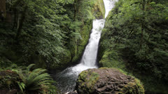 Bridal Veil Falls in the Columbia River Gorge in Oregon 1080p Stock Footage