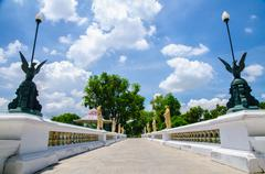 walkway in bang pa-in palace, ayuthaya, thailand - stock photo