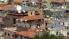 Sun Collectors and Water Tank in Turkey 2 - stock footage