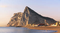 Gibraltar at sunrise Stock Footage
