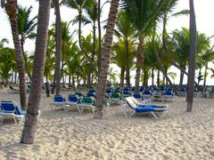 Dominican Republic Beach Scene - stock photo