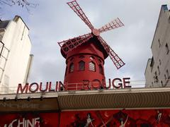 Paris - Moulin Rouge - stock photo
