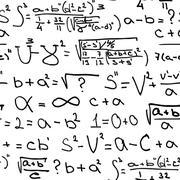 Mathematics equations on white - stock illustration