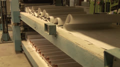 Factory for the production of wallpapers Stock Footage
