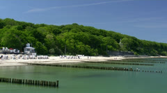 Beautiful Heiligendamm Beach - Baltic Sea, Northern Germany Stock Footage