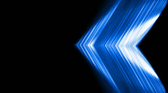 Blue fiber optic lines shaped metal triangle,tech energy plate. Stock Footage