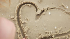 Heart in the sand Stock Footage