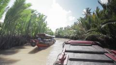 South east asia asia river traffic - stock footage