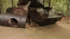 Panzer in jungle FullHD 1080p h264 - stock footage