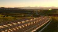 Motorway sunset HD Stock Footage