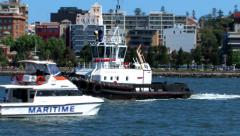 Tug and maritime services launch Stock Footage