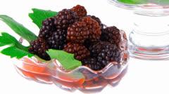 Berrys in bowls Stock Footage