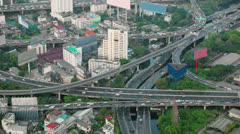 The traffic intersection in the big city Stock Footage