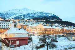 narvik city norway - stock photo