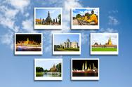 Stock Photo of thailand travel background concept