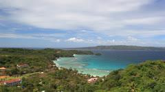 Aerial view of caribbean coastline Stock Footage