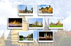 thailand travel background concept - stock photo