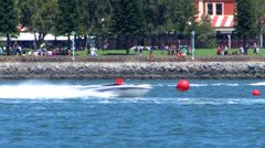 Speed boat race Stock Footage