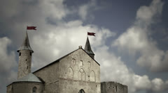 Old medieval castle Stock Footage